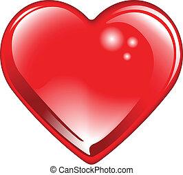 Glänzendes rotes Valentinsherz