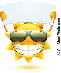 glücklich, sonne, sommer