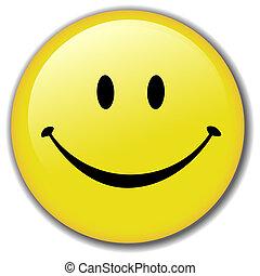 glücklich, taste, smiley, abzeichen, gesicht