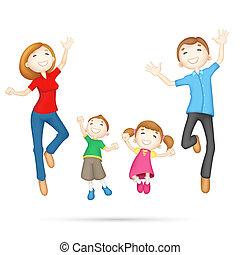 glückliche familie, 3d