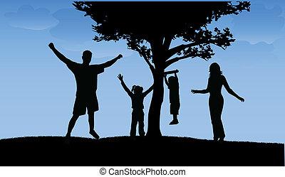 Glückliche Familie.