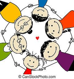 Glückliche Familie zusammen, Bild für dein Design