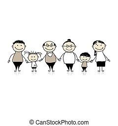 Glückliche Familie zusammen - Eltern und Kinder