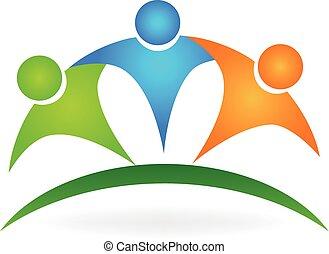 Glückliche Freundschaft, Leute Logo.
