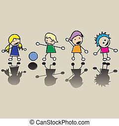 Glückliche kleine Kinder