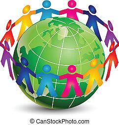 Glückliche Menschen in der ganzen Welt