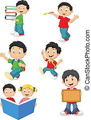 Glückliche Schulkinder, Zeichentrickfilme.