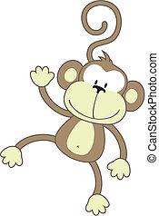 Glücklicher Affe