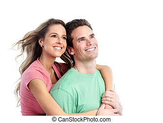 Glückliches junges Paar.