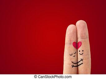 ? Glückliches Paar verliebt