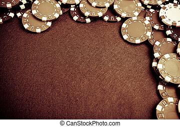 Glücksspiel-Chips - Grungestiliert