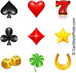 Glücksspiel und Glück, Ikonenset.