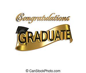 Glückwunsch zum Abschluss.