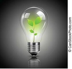 Glühbirne grün