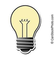 Glühbirnenenergiedesign