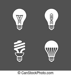 Glühbirnensymbole