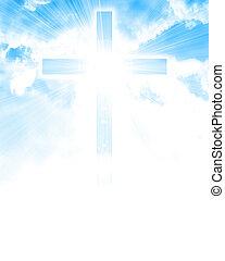 Glühendes Kreuz am Himmel