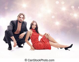 Glamour-Foto eines attraktiven Paares