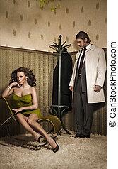 Glamour Stil Foto eines attraktiven Paares.