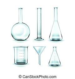 glas, flaschen, laboratorium