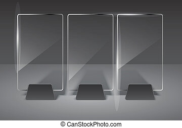 Glas Plakat. Vektor Illustration. Eps10