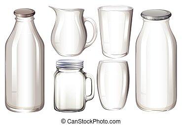 Glasbehälter.