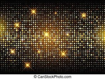 Glitter Gold Disko-Licht Hintergrund 2406.