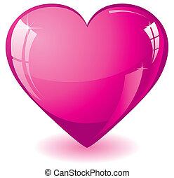 Glitter rosa Herz.