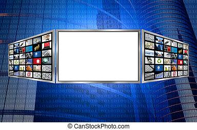Global 3d Screen-kopieren Sie Weltraumtechnologie