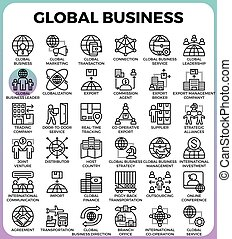 global, begriff, geschäfts-ikon