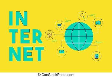 Global Internet Social Media Network Konzept