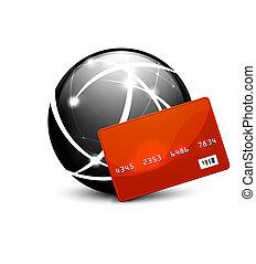Global Payment Vektor-Konzept Icon.