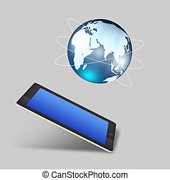 global, pc, begriff, hochkonjunktur, tablette