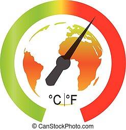 Globale Erwärmung. Vector Illustration