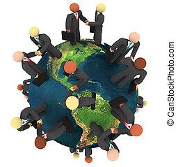 Globale Geschäfte - internationale Händeschütteln