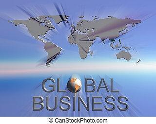 Globale Geschäftsweltkarte