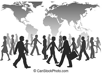 Globale Menschen gehen über die Weltbevölkerung hinaus.