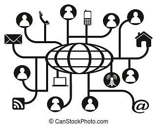 Globales soziales Netzwerk.