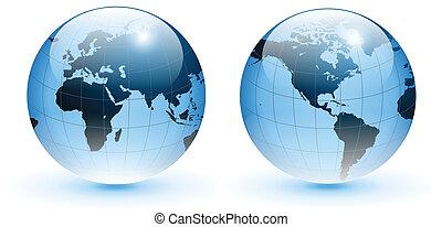 Globe der Welt, Vektor.