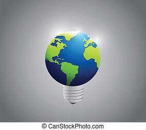 Globe Glühbirnen Illustration Design.