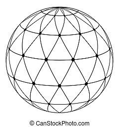 Globe radiale Dreiecksmuster