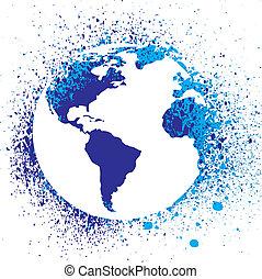 Globe Tintenspritzer illustrieren.