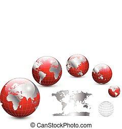 Globe und Karte der Welt