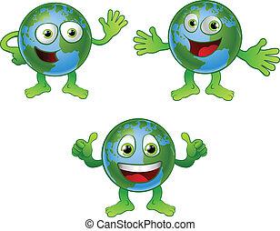 Globe World Cartoon-Figur