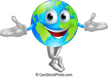 Globe World Maskottchenmann