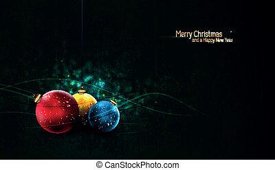 globen, grungy, hintergrund, bunte, weihnachten