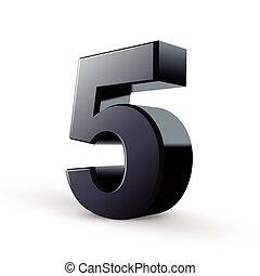 Glossy, schwarze Nummer fünf.