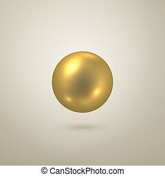 Glossy Vektorgoldkugel