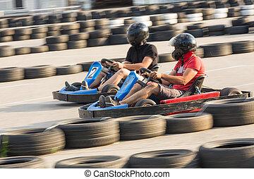 Go-Cart-Rennen.