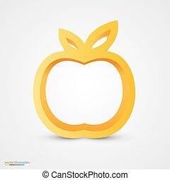 Gold-Apfel-Ikone.